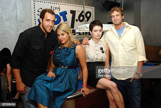 """Colin Clemens, Megan Krizmanich, Hannah Bailey and Mitch Reinholt attend Paramount Vantage's """"American Teen"""" after party at Pop Burger on July 24,..."""