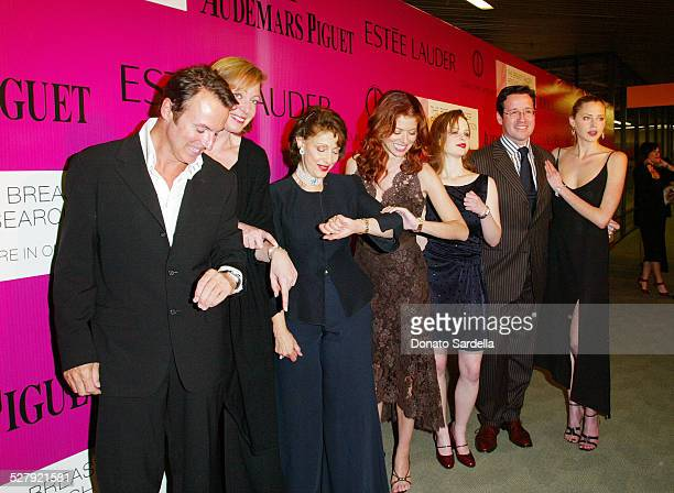 Colin Cowie Allison Janney Evelyn H Lauder Debra Messing Thora Birch FrancoisHenry Bennahmias and Estella Warren