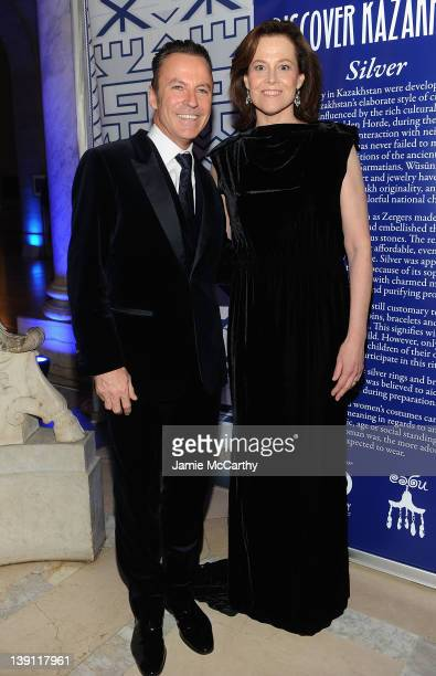Colin Cowie and Sigourney Weaver attend the 2012 Nomad's Way gala to benefit The Alem Program at The New York Public Library on February 16 2012 in...