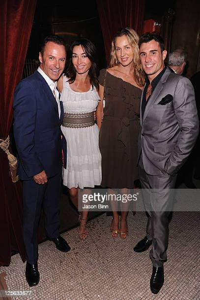 Colin Cowie Dara Tomanovich guest and Tony Curtis attend a welcome party for newlyweds Kim Kardashian and Kris Humphries hosted by Colin Cowie and...