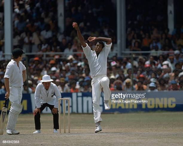 Colin Croft bowling for West Indies during the 1st Test match between West Indies and Australia at Queen's Park Oval Port of Spain Trinidad 3rd March...