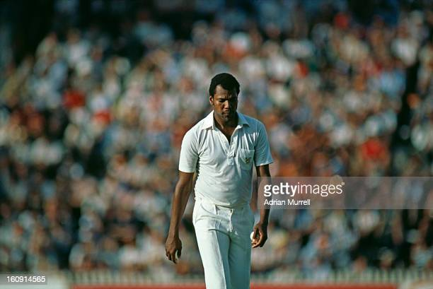 Colin Croft of the rebel West Indies XI plays South Africa in Johannesburg during the team's tour of South Africa February 1983