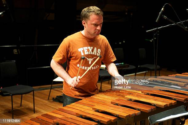 Colin Currie of Colin Currie Group performs Steve Reich's Drumming on stage at the Queen Elizabeth Hall on April 8 2011 in London United Kingdom