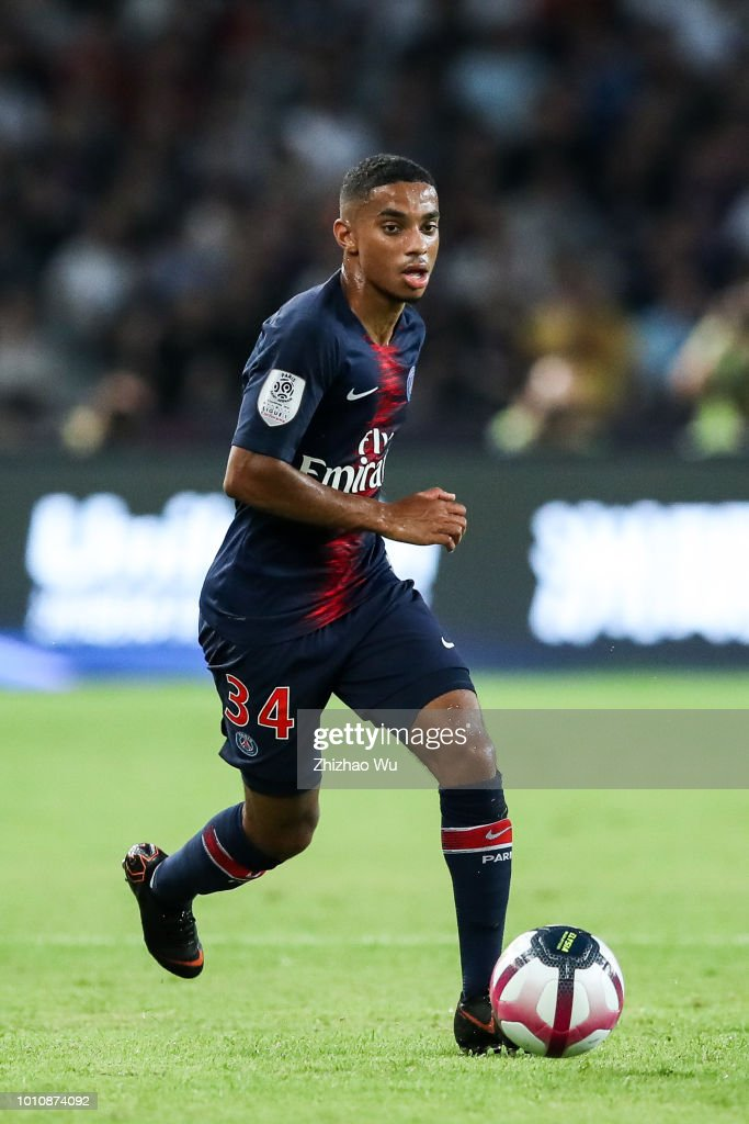 81ea13cf98d4 colin dagba in action during the match between paris saint germain