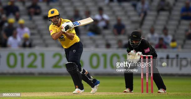 Colin de Grandhomme of Birmingham Bears bats during the Vitality Blast match between Birmingham Bears and Leicestershire Foxes at Edgbaston on July...