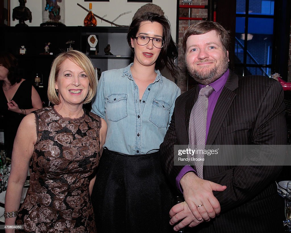 Colin Dickey, author of 'Ghostland'(R) attends the 2015 Morbid Anatomy Museum gala on April 21, 2015 in the Brooklyn borough of New York City.
