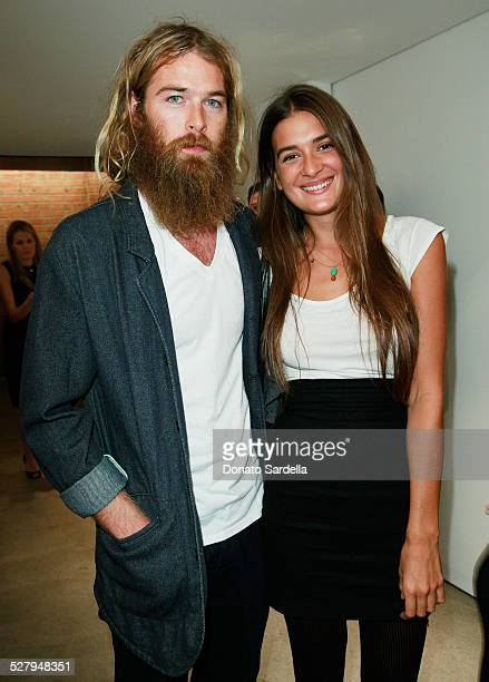Colin Donahue and Natalia Bonifacci attend a dinner hosted by Vogue and Mulberry celebrating the work of Alexandra Grant on display at the 'Some...
