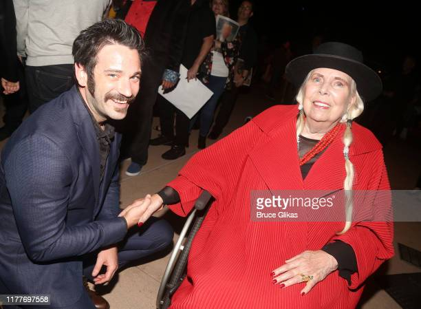 """Colin Donnell and Joni Mitchell pose at the opening night of the new musical """"Almost Famous"""" at The Old Globe Theatre on September 27, 2019 in San..."""