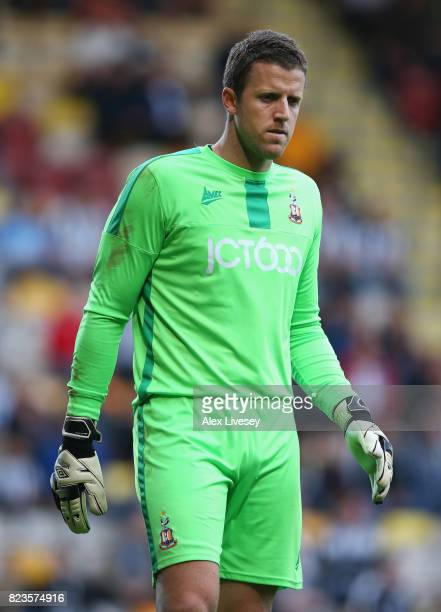 Colin Doyle of Bradford City during a preseason friendly match between Bradford City and Newcastle United at Northern Commercials Stadium on July 26...