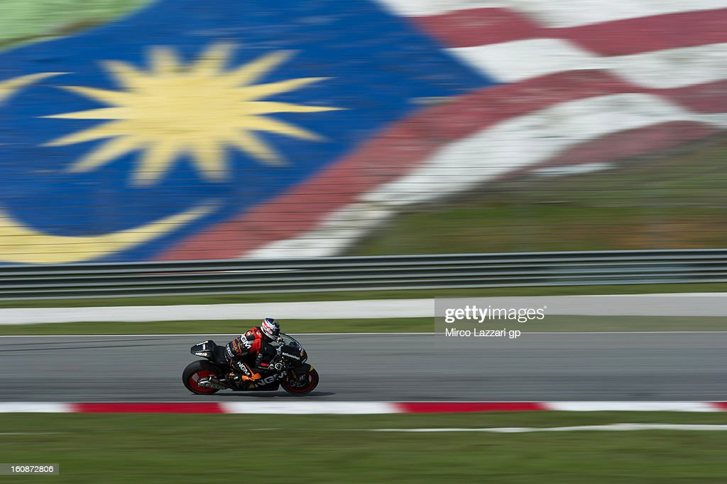 Colin Edwards of USA and NGM Mobile Forward Racing rounds the bend during the MotoGP Tests in Sepang - Day Five at Sepang Circuit on February 7, 2013 in Kuala Lumpur, Malaysia.
