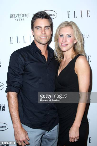 Colin Egglesfield and Emily Giffin attend ELLE Celebrates Women in Music at Highline Ballroom on June 9 2010 in New York City