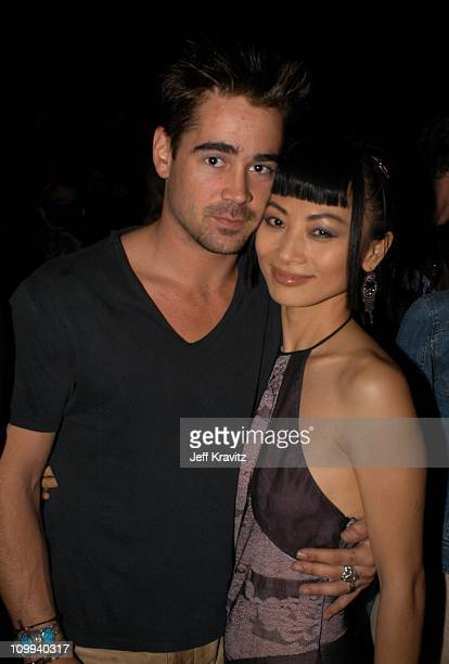 Colin Farrell and Bai Ling during 2003 MTV Movie Awards Backstage and Audience at The Shrine Auditorium in Los Angeles California United States