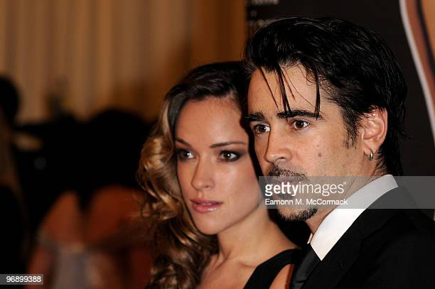 Colin Farrell and girlfriend Alicja BachledaCurus arrive at The 7th Annual Irish Film And Television Awards at the Burlington Hotel on February 20...