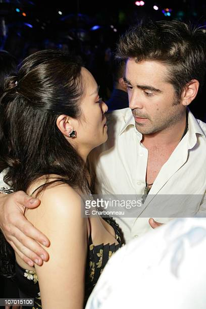 Colin Farrell and Gong Li during Universal Pictures Presents the World Premiere of Miami Vice at Mann Village Theater in Westwood California United...
