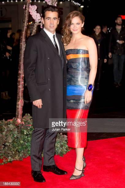 Colin Farrell and Ruth Wilson attend the Closing Night Gala European Premiere of 'Saving Mr Banks' during the 57th BFI London Film Festival at Odeon...