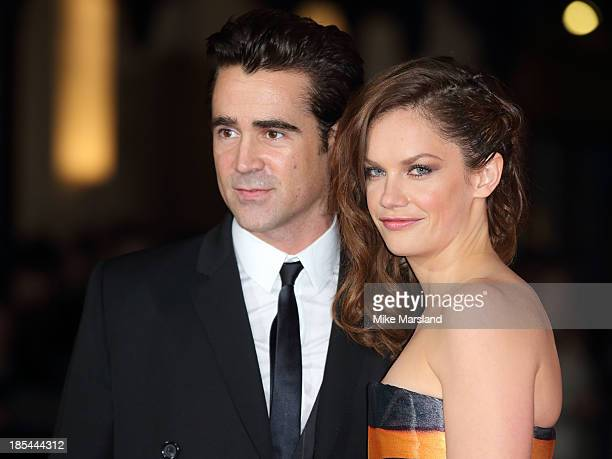 "Colin Farrell and Ruth Wilson attend the Closing Night Gala European Premiere of ""Saving Mr Banks"" during the 57th BFI London Film Festival at Odeon..."