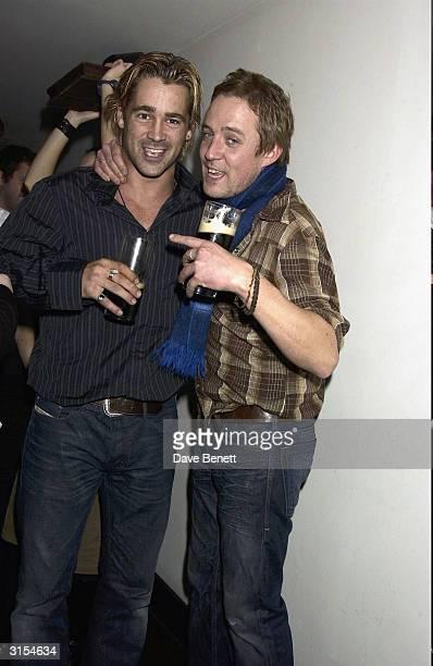 Colin Farrell and Tom O'Sullivan attend the UK Premiere of 'Intermission' at the Electric Cinema in Portobello Road on November 24 2003 in London