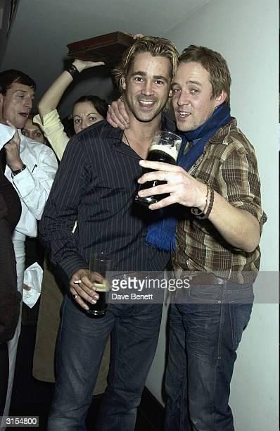 Colin Farrell and Tom O'Sullivan attend the UK Premiere of Intermission at the Electric Cinema in Portobello Road on November 24 2003 in London