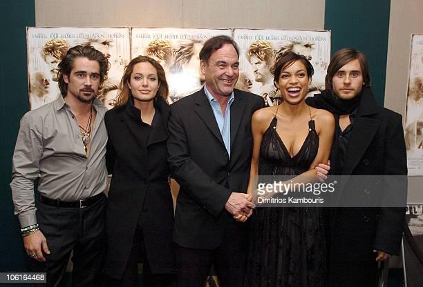 Colin Farrell Angelina Jolie Oliver Stone Rosario Dawson and Jared Leto
