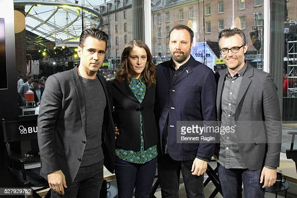 Colin Farrell Ariane Labed Yorgos Lanthios and Ricky Camilleri attend the AOL NewFront 2016 at Seaport District NYC on May 3 2016 in New York City