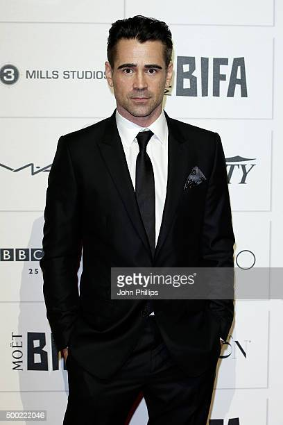 Colin Farrell arrives at The Moet British Independent Film Awards 2015 at Old Billingsgate Market on December 6 2015 in London England
