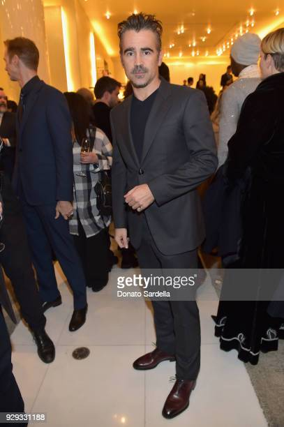 Colin Farrell attends Giorgio Armani's celebration of 'The Shape of Water' hosted by Roberta Armani on March 3 2018 in Beverly Hills California