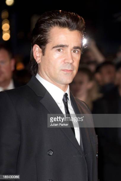 Colin Farrell attends the Closing Night Gala European Premiere of Saving Mr Banks during the 57th BFI London Film Festival at Odeon Leicester Square...