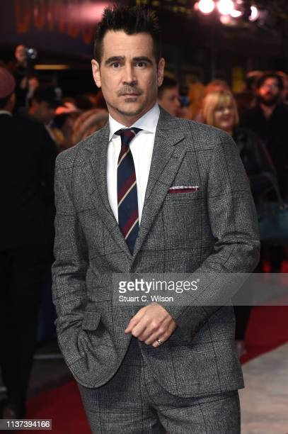 Colin Farrell attends the 'Dumbo' European premiere at The Curzon Mayfair on March 21 2019 in London England