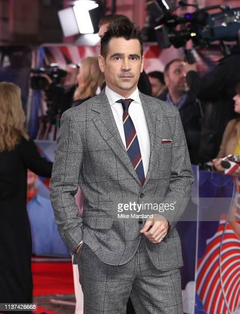 Colin Farrell attends the 'Dumbo' European premiere at The Curzon Mayfair on March 21, 2019 in London, England.