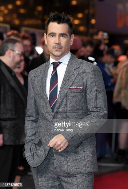 Colin Farrell attends the European premiere of 'Dumbo' at The Curzon Mayfair on March 21, 2019 in London, England.