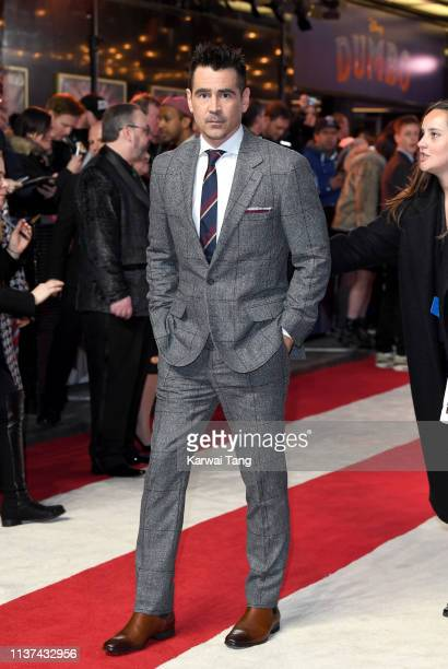 Colin Farrell attends the European premiere of 'Dumbo' at The Curzon Mayfair on March 21 2019 in London England