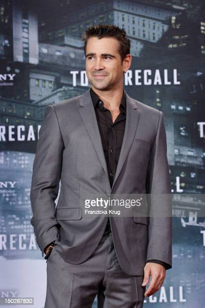 Colin Farrell attends the German premiere of 'Total Recall' at Sony Center on August 13 2012 in Berlin Germany