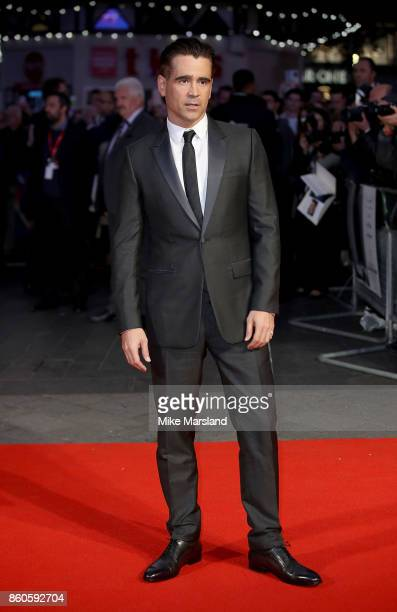 Colin Farrell attends the Headline Gala Screening UK Premiere of 'Killing of a Sacred Deer' during the 61st BFI London Film Festival on October 12...