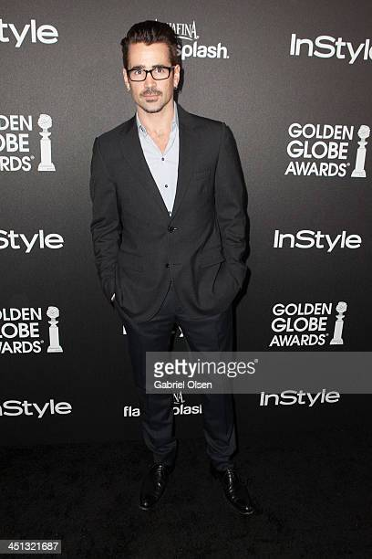 Colin Farrell attends The Hollywood Foreign Press Association And InStyle Celebrates The 2014 Golden Globe Awards Season at Fig Olive Melrose Place...