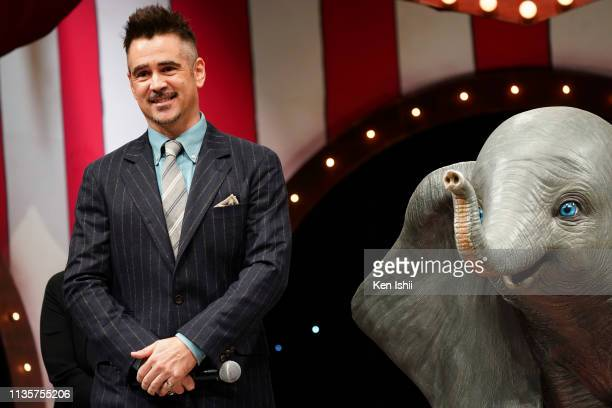 Colin Farrell attends the Japan premiere of Disney's 'Dumbo' on March 14 2019 in Tokyo Japan