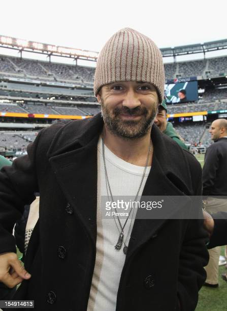 Colin Farrell attends the Miami Dolphins vs New York Jets game at MetLife Stadium on October 28 2012 in East Rutherford New Jersey