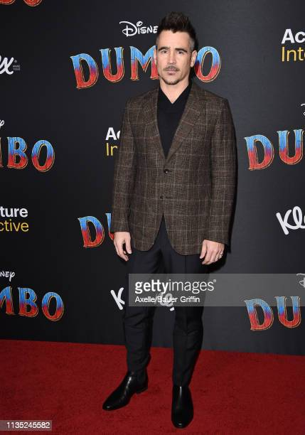Colin Farrell attends the premiere of Disney's Dumbo at El Capitan Theatre on March 11 2019 in Los Angeles California