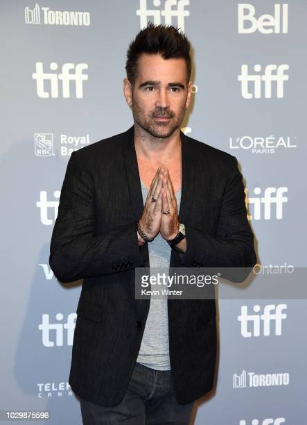 Colin Farrell attends the Widows press conference during 2018 Toronto International Film Festival at TIFF Bell Lightbox on September 9 2018 in...
