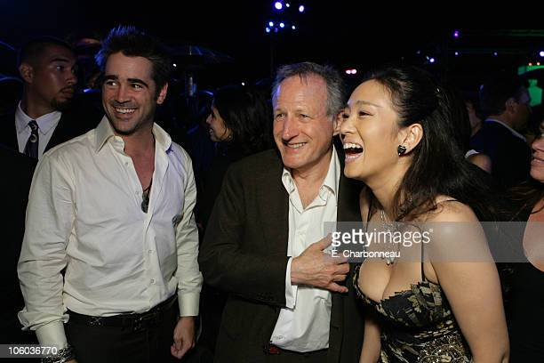 Colin Farrell Director Michael Mann and Gong Li during Universal Pictures Presents the World Premiere of Miami Vice at Mann Village Theater in...