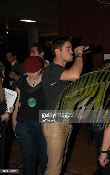 Colin Farrell during 2003 MTV Movie Awards Backstage and Audience at The Shrine Auditorium in Los Angeles California United States