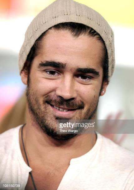 Colin Farrell during Cast Members of 'SWAT' Stop by MTV's 'TRL' August 7 2003 at MTV Studios Times Square in New York City New York United States