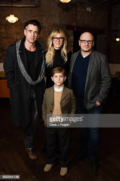 Colin Farrell Edith Bowman Lenny Abrahamson and Jacob Tremblay attend a special Screening of 'Room' hosted by Colin Farrell at Picturehouse Central...