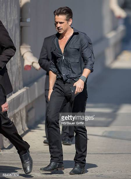 Colin Farrell is seen at 'Jimmy Kimmel Live' on May 24 2016 in Los Angeles California