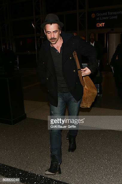 Colin Farrell is seen at LAX on January 03 2016 in Los Angeles California