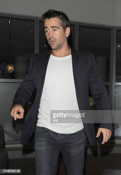 Colin Farrell leaves a private screening of the film 'Total Recall' on August 15 2012 in London England