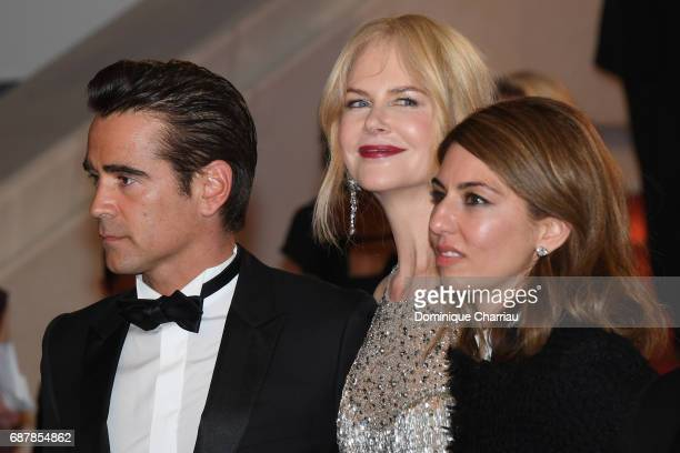 Colin Farrell Nicole Kidman and Sofia Coppola depart the 'The Beguiled' screening during the 70th annual Cannes Film Festival at Palais des Festivals...