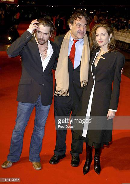 Colin Farrell Oliver Stone director and Angelina Jolie