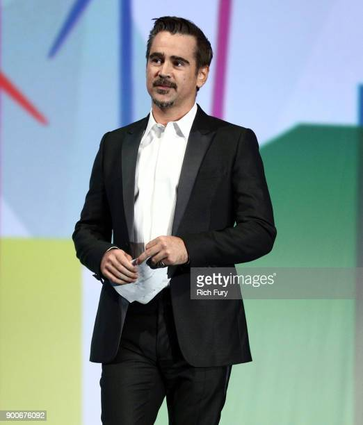 Colin Farrell onstage at the 29th Annual Palm Springs International Film Festival Awards Gala at Palm Springs Convention Center on January 2 2018 in...