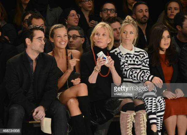 Colin Farrell Petra Nemcova Trudie Styler Mickey Sumner and America Ferrera front row at Edun MercedesBenz Fashion Week Fall 2014 at Skylight Modern...