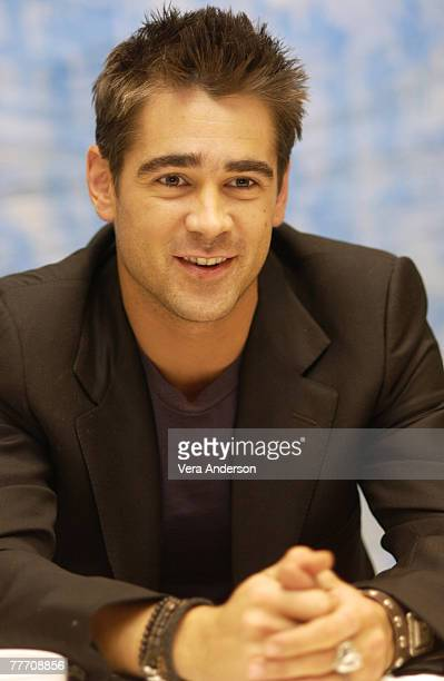Colin Farrell St Regis Hotel Press Conference for The Recruit Century City California